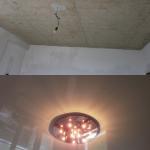 устройство потолка с люстрой