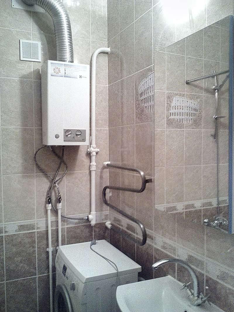 установка приборов в ванной