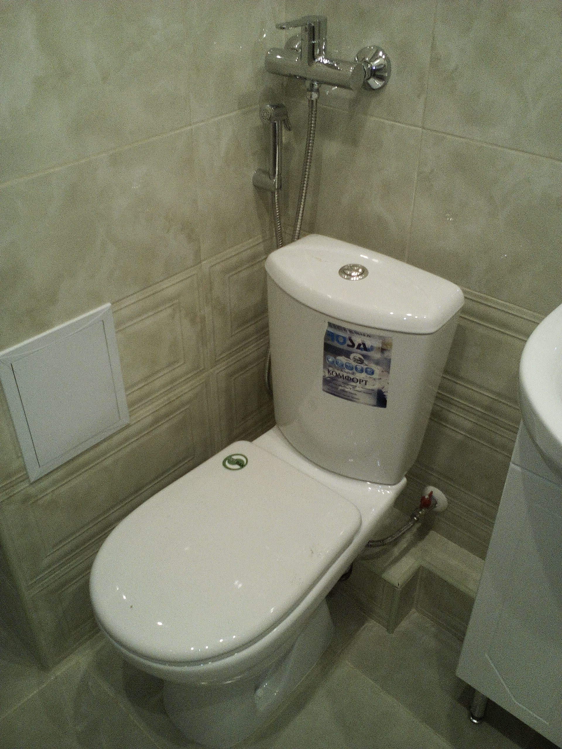 установка унитаза с гигиеническим душем