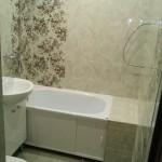 отделка пространства между стеной и ванной